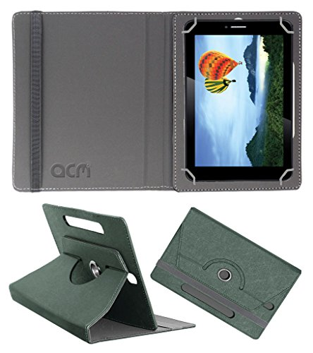 Acm Designer Rotating Leather Flip Case for Iball Slide 7236 2gi Cover Stand Grey  available at amazon for Rs.169
