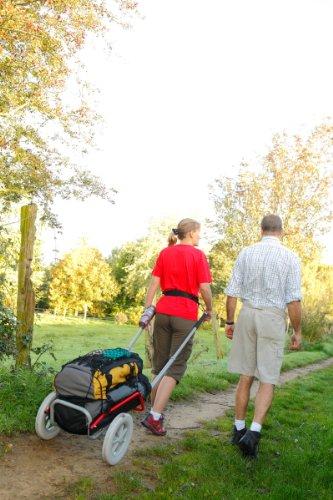 Mottez - Carrello da escursionismo, 30 kg, colore: Grigio