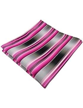 pañuelo rosa pink magenta antracita plata gris rayas - paño poliéster