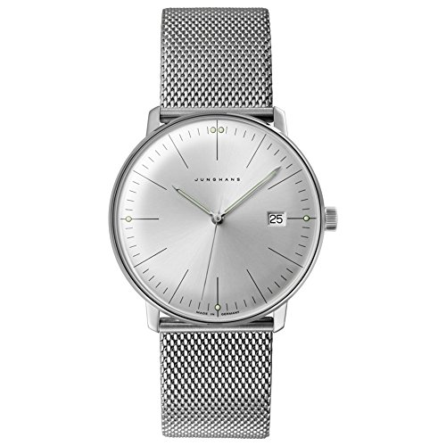 Junghans Men's 'Max Bill' Quartz Stainless Steel Dress Watch, Color:Silver-Toned (Model: 041/4463.44)