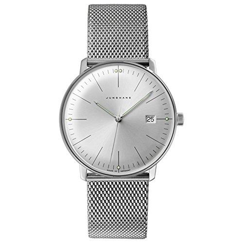 Junghans Men's 'Max Bill' Quartz Stainless Steel Dress Watch, Color:Silver-Toned (Model: 041/4463.44)