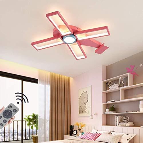 TZZ Techo 46W LED moderno de luz regulable helicóptero con control remoto Control de techo del cuarto de niños de la lámpara del accesorio de iluminación for la cocina, dormitorio, comedor, habitación