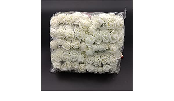 Espeedy K/ünstliche Mini-Rosen-Str/äu/ße 144 Rosen insgesamt Kunststoff Hochzeitsdekoration Bastelzubeh/ör wei/ß