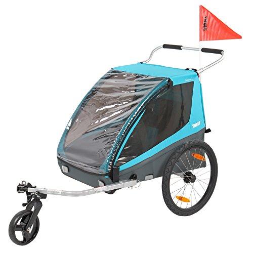 Th ule Coaster XT Fahrrad Anhänger, Buggy, Blau, Zweisitzer, 45 Kg Zuladung