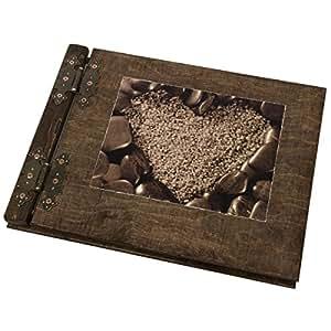 livre d 39 or de mariage en bois avec coeur sur les pierres 200 pages cadeau parfait. Black Bedroom Furniture Sets. Home Design Ideas
