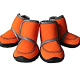 #5: O, XXL : Dog Shoes Water Resistant Pet Boots Rugged Anti-Slip Sole for Various Size Dogs Labrador Husky Paw Protectors Four Pieces