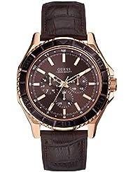 GUESS Herren-Armbanduhr Unplugged Analog Quarz Leder W0520G1