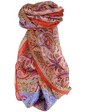 Bufanda Tradicional de Seda Largo Chopra Peony de Pashmina & Silk
