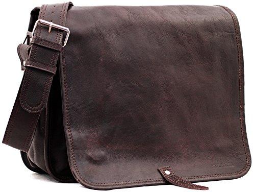 Il Messaggero (L) INDUS, borsa pelle vintage, la borsa a mano, borsa a tracolla, (A4), PAUL MARIUS, Vintage & Retro