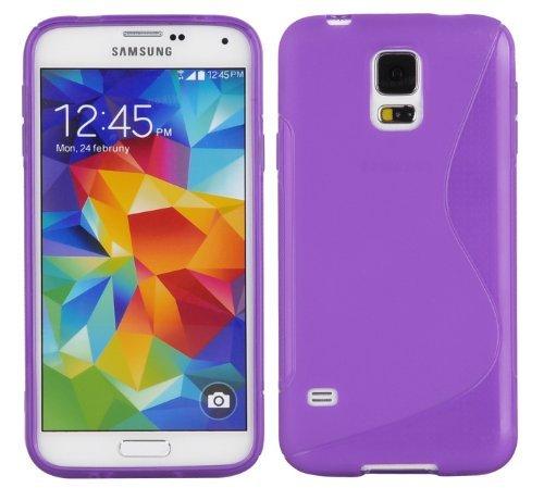 Preisvergleich Produktbild Cadorabo Silikon Hülle für Samsung Galaxy S5 / S5 NEO in Flieder Violett
