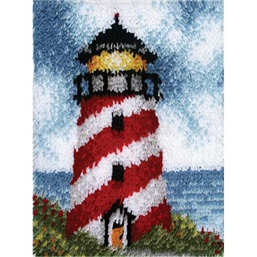 Beyond Your Thoughts Knüpfteppich Turm für Kinder und Erwachsene zum Selber Knüpfen Teppich Latch Hook Kit Child Rug Cute 179 53 * 38 cm