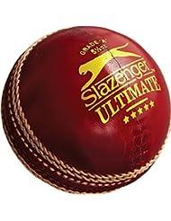 Slazenger Ultimate Cricket Deporte al aire libre formación y práctica Match Ball 51/2oz, rojo, 5 1/2 oz