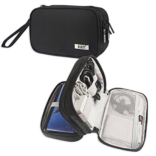 BUBM Nintendo Tasche, Doppelte Tragetasche Schutzhülle für 3DS/3DS XL/Neu 2DS XL, schützend tragbare Tasche, praktischer Organizer während der Reise für 3DS/3DS XL/Neu 2DS XL und Zubehör, Schwarz
