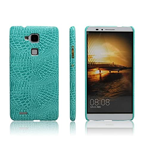 Apanphy Huawei Mate 7 Coque, Texture en cuir Haute Qualité PU Ultra Slim Confortable Sens Coque pour Huawei Mate 7, Vert