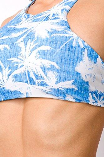 luxury and good Dessous Damen Bikini Blau/Weiß