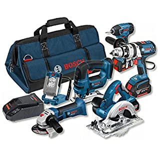 Bosch Professional 18 V Heavy Duty Power Tool Kit and Bag (3 x 4.0 Ah Lithium-Ion CoolPack Batteries) - 6-Piece