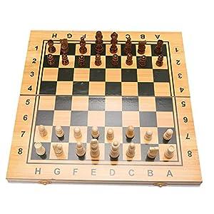 Internationales Schachspiel Schachspiel, das magnetisches hölzernes Standardschachspiel-Brettset mit hölzernen in…