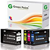 Greenpoint 4 Tintenpatronen XXL Kompatibel zu Canon PGI-1500 XL BK/C/Y/M Maxify MB-2000 2100 2300 2700 Series - Schwarz 38ml, Color (C,Y,M) je 16ml