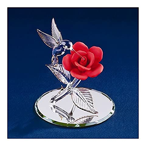 Red Rose Glass Figurine by goldia