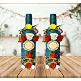 Unique Arts & Interiors Decorative Handcrafted Bottles / Flower Vase For Home Decor Or Gift - Set Of 2