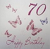 """White Cotton Cards WBB70 """" mariposas"""