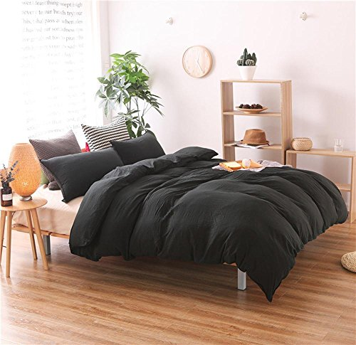 lle bettwäsche solide 3-teilige Bettbezug bettwäsche Set 1 bettbezug, 2 Kissenbezüge, 1, Twin ()
