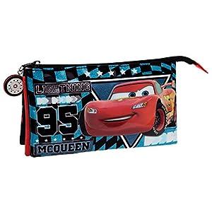 Disney Cars Glitter Neceser de Viaje, 1.32 litros, Color Azul