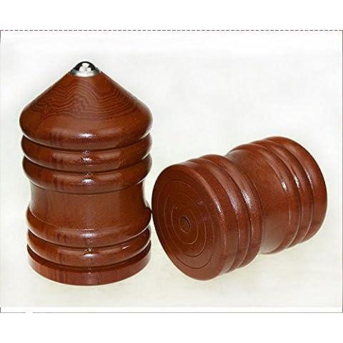 GG Fitness top adulto invecchiato legno grande giroscopio impostato su frusta filo metalloide bachelite tuttapiastra , 1