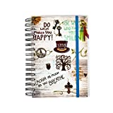 2017-2018 diary One Day to Page A5 Spiral Mid Year Student/Teacher Diary With Full Page of Saturday & Sunday by Arpan (Slogan Art Cream)