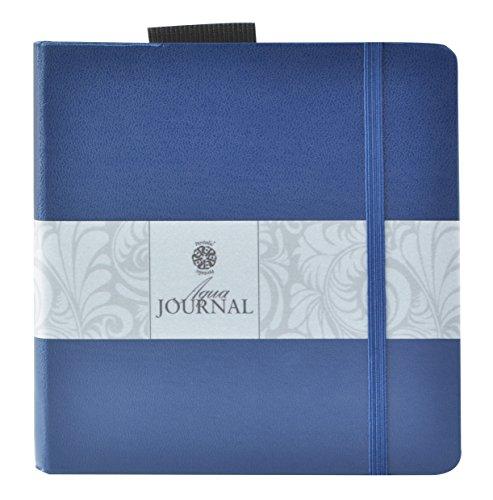 Pentalic Art Wasserfarben-Tagebuch, weiß, 5-1/2-inch x 5-1/2-inch, 48 Page Journal (Journal Aqua)