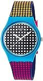Swatch Unisex-Armbanduhr Analog Quarz One Size, schwarz, lila/bunt