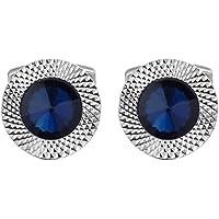 cdfb186f456d Cufflinks Direct Sapphire Blue Swarovski Crystal Gem Stone Mens Gift Cuff  Links