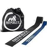 Bendexx Floss Band 1,5mm + 1mm im Set, Flossing Band für Sport + Reha + Physio, hautverträgliche & strapazierfähige Qualität