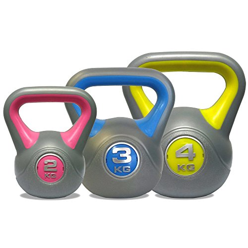51PcglkyTQL - BEST BUY #1 DKN Vinyl Kettle Bell Weight Set - Multi-Colour, 2 - 4 kg Reviews and price compare uk