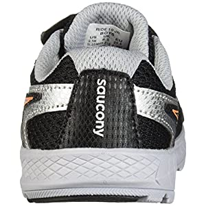 Saucony- - Ride 10 Jr (EE. UU) Bebé-Niñas Unisex Niños, Negro (Negro), 6 Medium US Toddler