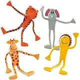 Animales de la selva flexibles (pack de 4)