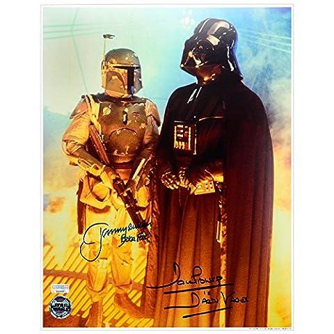 David Prowse et Jeremy Photographie autographe 11x 14Dark Vador et