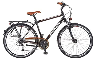 Stratos Herren Alu-trekkingräder 28 Zoll Entdecker 3.1, glanzschwarz, Rahmenhöhe: 52 cm, Reifengröße: 28 Zoll (71 cm), 51149