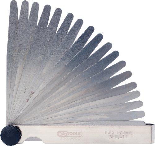 KS Tools 300.0600 Fühlerlehre, 20 Blatt, 0,05-1mm