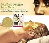Anti Falten COLLAGEN Gesichtsmaske mit kolloidalem Gold - by BLISSANY zur Regeneration der Gesichtshaut, Anti Aging Maske, feuchtigkeitsspendend Kollagen Maske (10)