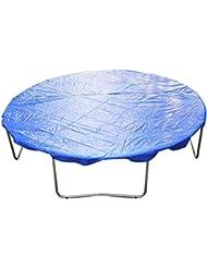 Homcom - Funda proteccion impermeable para cama elástica trampolines, diámetro ø 366cm, color azul
