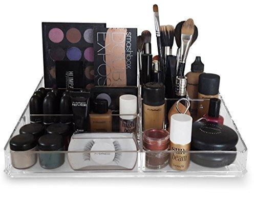 Oi LabelsTM Grande Acrílica Transparente maquillaje / Cosmético / Joyería / Nail Polish Organizador Soporte De Exhibición (con del alto grado 3mm acrílico). En Caja De Regalo