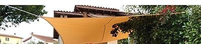 Sunnylaxx Vela de Sombra Rectangular 2 x 3 Metros, toldo ...
