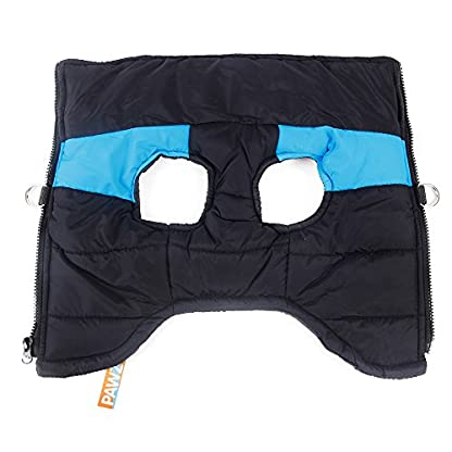 Pet Dog Cold Weather Coat Windproof, PAWZ Road Winter Warm Jacket With D Ring for Harness, Padded Vest Clothes For… 5