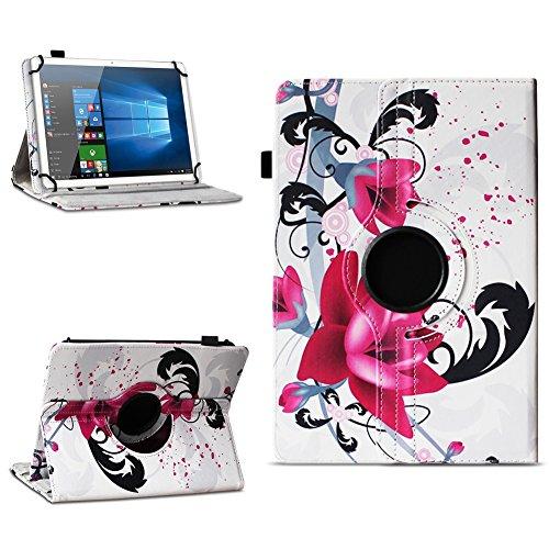 Xido Z120 Z110 X111 X110 Tablet Tasche Schutzhülle hochwertiges Kunstleder Hülle Standfunktion 360° Drehbar Cover Universal Case, Farben:Motiv 7