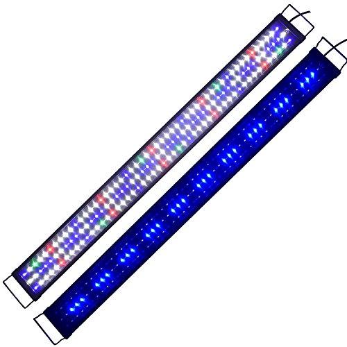 Aquarien Eco Tageslichtsimulation Aquarium LED Beleuchtung Lampe Aquariumleuchte Aufsetzleuchte Süßwasser Meerwasser Reef Coral Fish Wasserpflanzen 120CM A145
