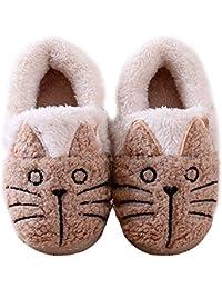 Zapatillas de Estar por casa Animales/Gatos Invierno interio Suave para Familia niños/niñas