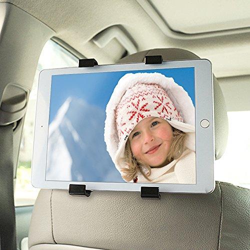 Preisvergleich Produktbild Tablet Halterung,  ikalula Universal Auto Rücksitz Kopfstütze Halterung Drehen Einfache Installation KFZ-Kopfstützen Tablet Halterung für iPad 2 / 3 / Mini / Air,  Samsung Galaxy Tab und 6-11 Zoll Tablet