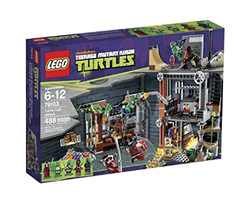 LEGO Teenage Mutant Ninja Turtles Attack on the Lair of the Turtles–games of Construction (Cartoon, Boy/Girl,