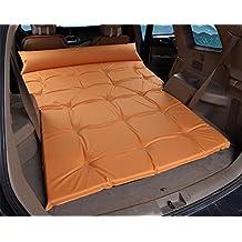 RUIRUI SUV Colchón de AirCama Doble Cama de Coche Portátil para Viajar al Aire Libre, Incluyendo la Bomba de Aire Eléctrico , orange